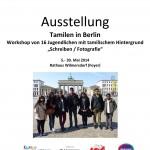 Ausstellungsplakat Tiger & Bär - Junge Tamilen in Berlin
