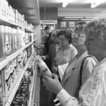 Nach der Währungsunion in Cottbus, 1990.